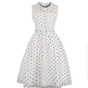 Dresses & Skirts - Pinup White and black polka dot dress